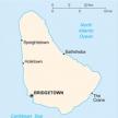 Karte von Barbados