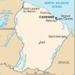 Karte von Französisch-Guyana