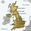 Karte von Großbritannien
