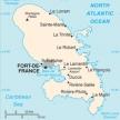 Karte von Martinique