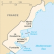 Karte von Monaco