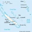 Karte von Neukaledonien