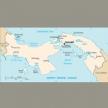 Karte von Panama