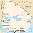 Karte von Uruguay
