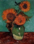 Vincent van Gogh: Drei Sonnenblumen (August 1888) Privatsammlung, USA