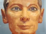 Kopf des Sitzenden Schreibers (Scribe accroupi), Louvre, Paris