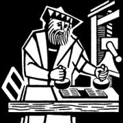 Gutenberg druckt die deutsche Bibel