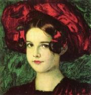 Franz von Stuck: Mary mit rotem Hut, 1902, Privatsammlung, München.