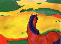 Franz Marc: Pferd in Landschaft