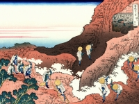Eine Gruppe von Bergsteigern