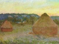 1270 Wheatstacks, 1890-91, 65.8 x 101 cm, 25 7-8 x 39 3-4 in, The Art Institute of Chicago