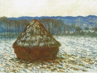 Claude Monet, Wheatstack, 1890-91. Oil on canvas. Art Institute of Chicago.