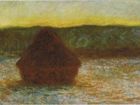 Claude Monet, Wheatstack (Thaw, Sunset), 1890-91. Oil on canvas. Art Institute of Chicago.