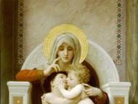 Die Jungfrau, das Jesuskind und Johannes dem Täufer