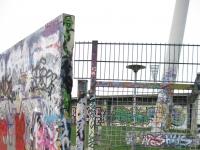 Teil der Berliner Mauer im Mauerpark, Berlin