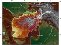 Topografische Karte Afghanistans