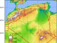 Algerien: Topografische Karte