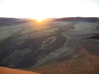 Sicht von der Düne 45 aus, Namib, Namibia