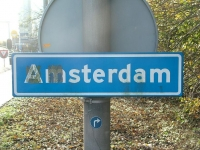 Amsterdam (town sign)