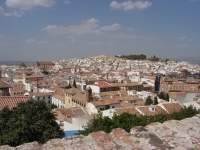 Blick über die Stadt Antequera, Andalusien, Spanien