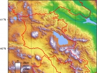 Armenien, topografische Karte