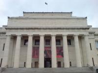 Auckland Museum Main Portico Red
