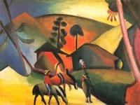 August_Macke_-_Indianer_auf_Pferden