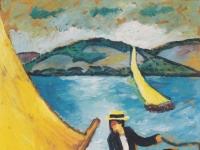 August Macke: Segelboot auf dem Tegernsee (ca. 1910)