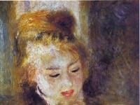 Auguste Renoir: La Liseuse (Jeune Fille lisant un Livre), 1876. canvas, 45x37 cm. Musée du Louvre, Paris.