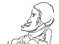 Autorretrato_caricaturesco_de_Goya