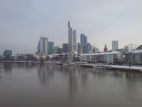 Bankfurt Skyline From Frankfurt Bridge
