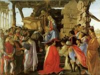 Botticelli: Anbetung der Heiligen drei Könige
