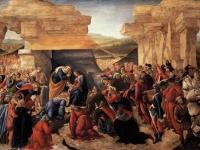 Sandro Botticelli: Anbetung der Könige (1490 - 1500), Uffizien, Florenz