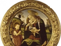Sandro Botticelli: Virgin and Child with the Infant St. John the Baptist (1490-1500)