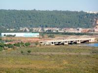 Eisenbahnbrücke zwischen sale und Rabat