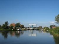 Hauptbrücke in De Hoef, einem Dorf in der Provinz Utrecht, Niederlande.