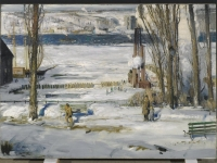 Brooklyn Museum - A Morning Snow--Hudson River - George Wesley Bellows - overall