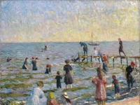 Brooklyn Museum - Bathing at Bellport, Long Island - William Glackens - overall