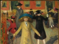 Brooklyn Museum - Children Rollerskating - William Glackens - overall