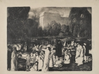 Brooklyn Museum - In the Park, Light - George Wesley Bellows - overall