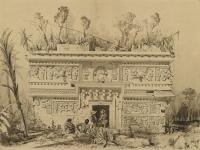 Brooklyn Museum - Las Monjas Chichen Itza Yucatan - Frederick Catherwood