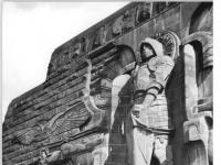 Leipzig, Völkerschlachtdenkmal, Statue Erzengel Michael (9 October 1963)