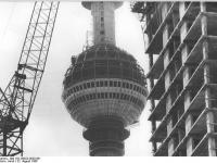 Berlin, Fernsehturm, Bau (22 August 1968)