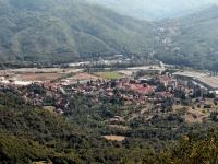 Ansicht von Casella (Provinz Genua), Italien.