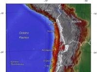 Topofrafische Karte von Chile