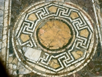 Triclinio estivo, pavimentazione in opus sectile, particolare