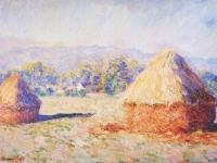 Claude Monet: Grainstacks in the Sunlight, Morning Effect (1890)