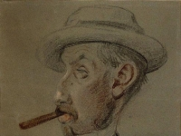 Claude Monet: Man with a Big Cigar (1855-1856)