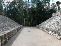 Ball-Spielplatz in Coba, Mexiko