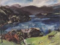 Corinth - Walchensee, Landschaft mit Kuh - 1921
